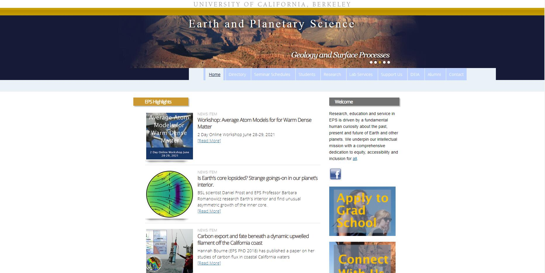 Earth and Planetary Sciences - UC Berekeley